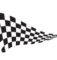 race flag icon design vector image vector image