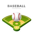 realistic baseball ball for betting promo vector image