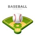 realistic baseball ball for betting promo vector image vector image
