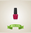 realistic nail polish element vector image