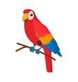 Red brazil parrot icon cartoon style vector image vector image
