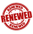 renewed sign or stamp vector image vector image
