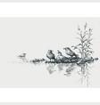 seagulls on seashore artistic marine scene vector image vector image