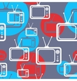 seamless background with tv icons vector image vector image