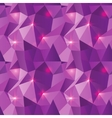 Seamless Polygonal Pattern Purple Shine Background vector image vector image
