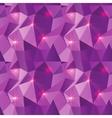 Seamless Polygonal Pattern Purple Shine Background vector image