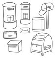 set of postbox vector image