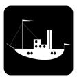 Ship button vector image