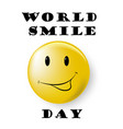smile world day vect ill vector image vector image