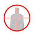 sniper scope crosshair man silhouette vector image vector image