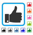 success thumb up framed icon vector image vector image