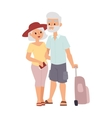 Summer old couple people vector image vector image