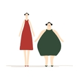 Thick and slim ladies for your design vector image