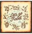 Travel blog adventure blogging online vector image