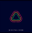 triangle color template vector image vector image