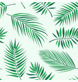 tropical palm leaves pattern - seamless modern vector image