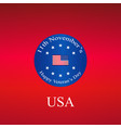 veterans day us seal and banner design vector image vector image