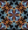 vintage damask 3d seamless pattern ornamental vector image vector image