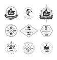 Vintage pike fishing emblems labels and design