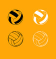 volleyball ball black and white set icon vector image
