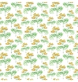 Watercolor tansy herb seamless pattern vector image vector image