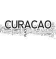 where is curacao text word cloud concept vector image vector image