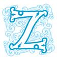 winter vintage letter Z vector image vector image