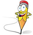 fun pencil cartoon vector image