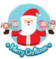 Santa Claus And Ornaments Character Design vector image