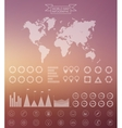 world map and infographics design template vector image