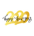 2020 new year in golden style vector image