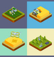 agriculture concept smart farming processes vector image vector image