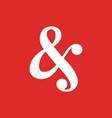 ampersand font script logo icon elegant