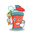 artist aerosol spray can character cartoon vector image