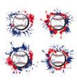baseball ball grunge icons sport game tournament vector image vector image