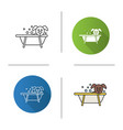bathing dog icon vector image vector image