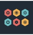 black gears icons set vector image vector image