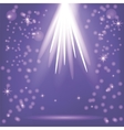 Blue Rays of Magic Lights vector image vector image