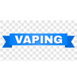 blue stripe with vaping caption vector image