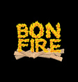 Bonfire typography Fire letters Burning Boards