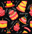 cake seamless pattern vector image vector image
