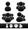 character symbol set vector image