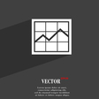 Chart icon symbol Flat modern web design with long vector image