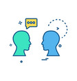 chat men talking icon design vector image