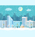 christmas winter city landscape with vector image vector image
