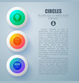 circle buttons concept background vector image vector image