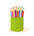 colour pencils vector image vector image