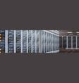 data center room hosting server computer vector image vector image