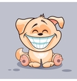 Dog with huge smile vector image