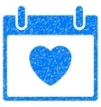 Favourite Heart Calendar Day Grainy Texture Icon vector image vector image